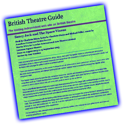 SJSV British Theatre Guide